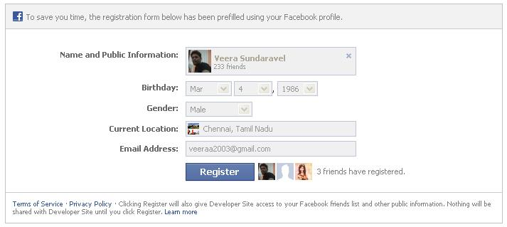 Facebook Registration Plugin in Rails | Veerasundaravel's